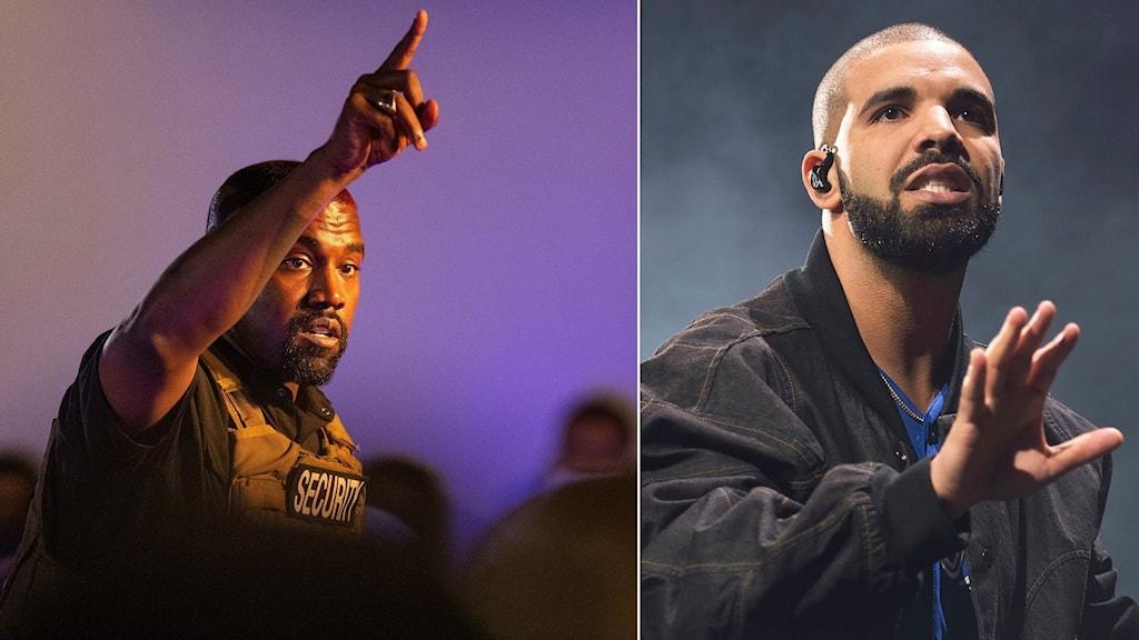 Hiphopgiganterna Kanye West och Drake släppte album samma vecka.