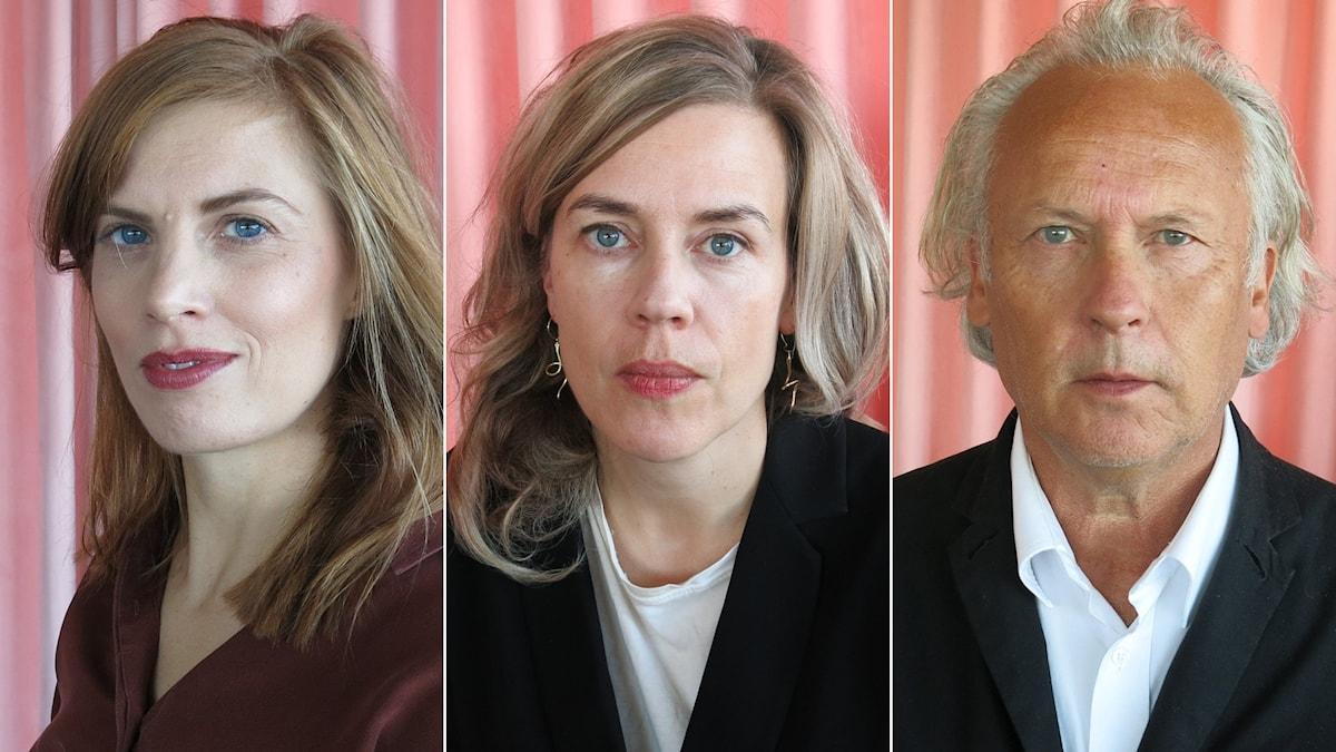 Lydia Sandgren, Annika Norlin och Klas Östergren