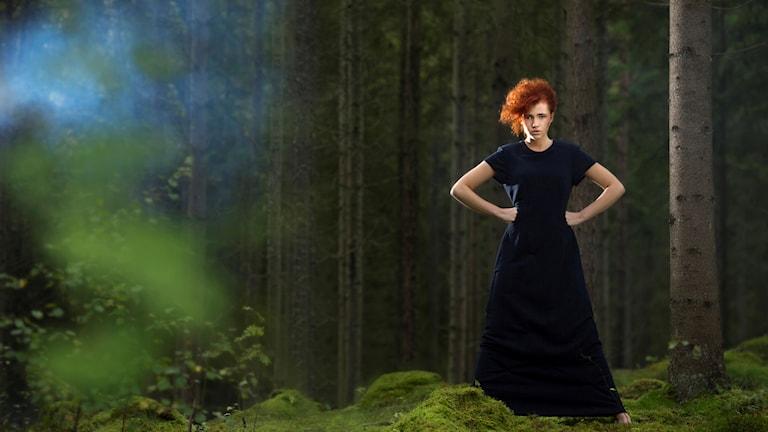 Klänningen som tillverkats av papper som en del av projektet Design for Recycling.