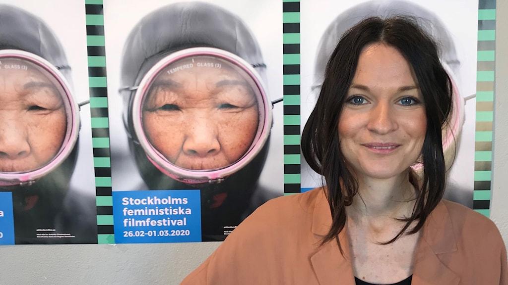 Stephanie Thögersen, festivalchef för Stockholms feministiska filmfestival.