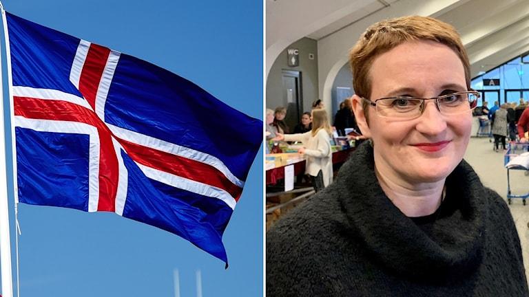 Islands flagga och Bryndís Loftsdóttir