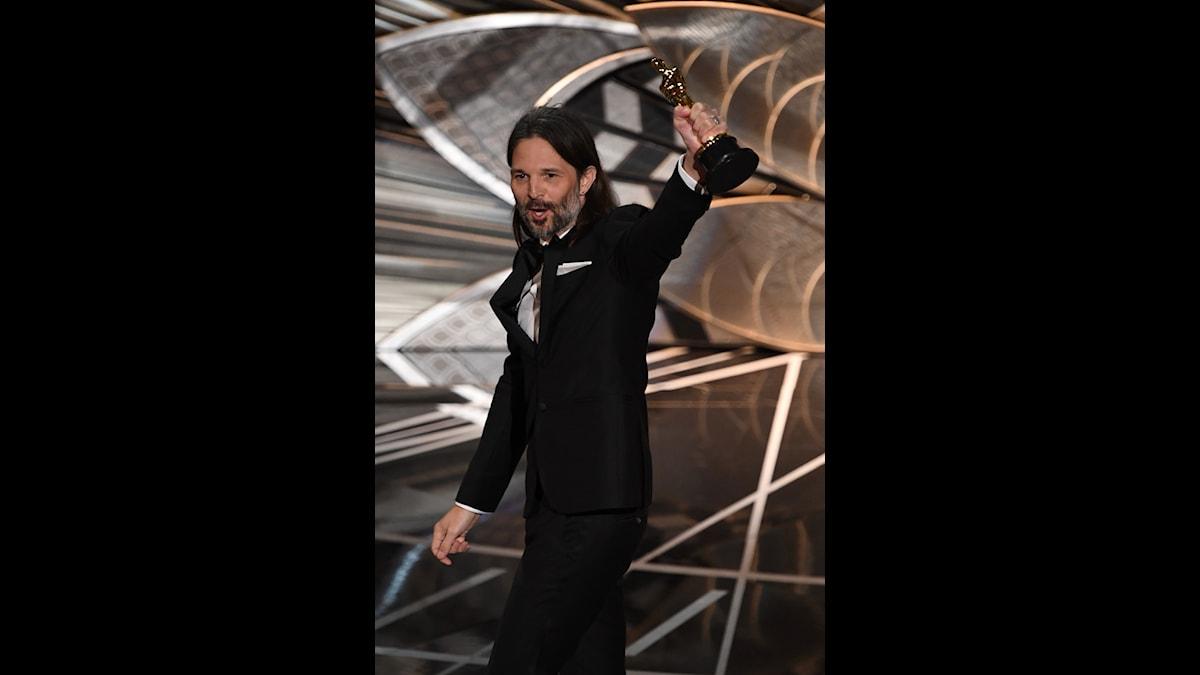 Svenska fotografen Linus Sandgren vinner en Oscar.