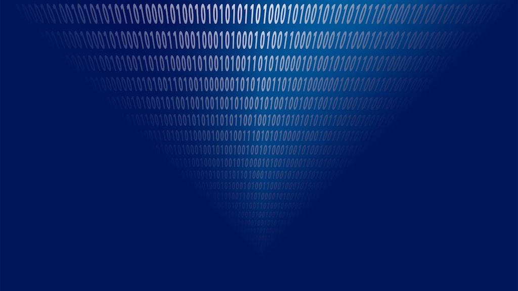 Binär kod som försvinner.