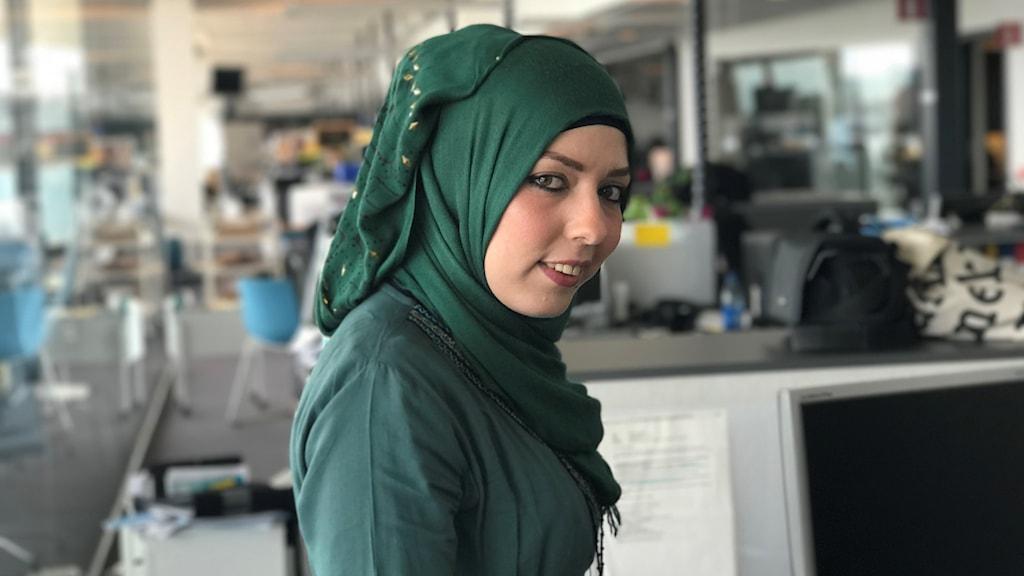 Rasha Alqasims debuterade på svenska i augusti Foto: Amr Bitar