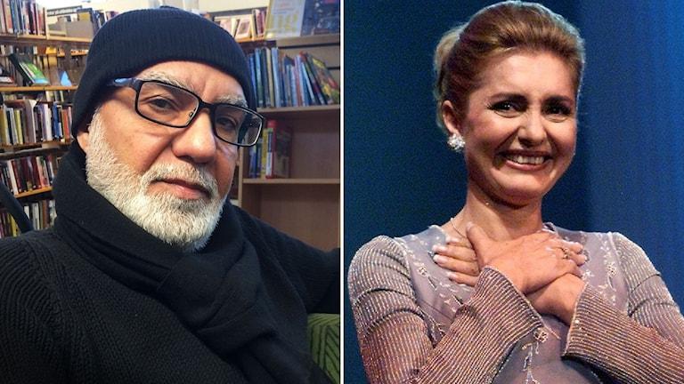 Poeten Abbas Hazheer skriver åt iranska popdivan Googoosh. Foto: Anna Tullberg / Kevin Frayer/TT