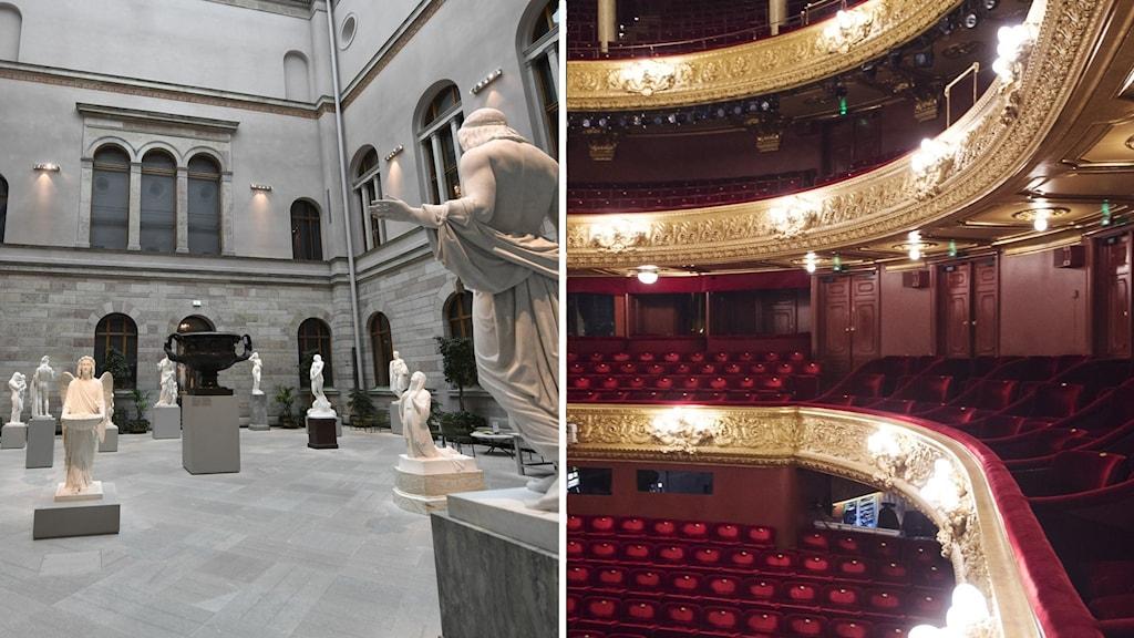 Tomt på museer och operasalonger.