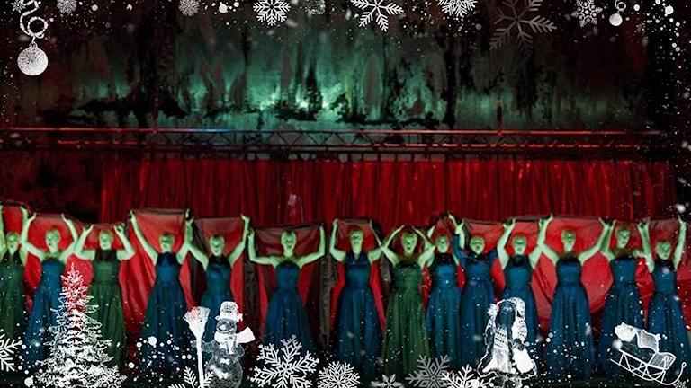 """Ett exempel på Thessmans scenografi, från Göteborgsoperans uppsättning av """"Macbeth""""."""