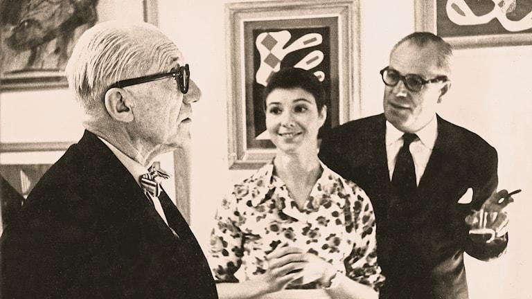 Theodor och Ulla Ahrenberg och Le Corbusier 1961