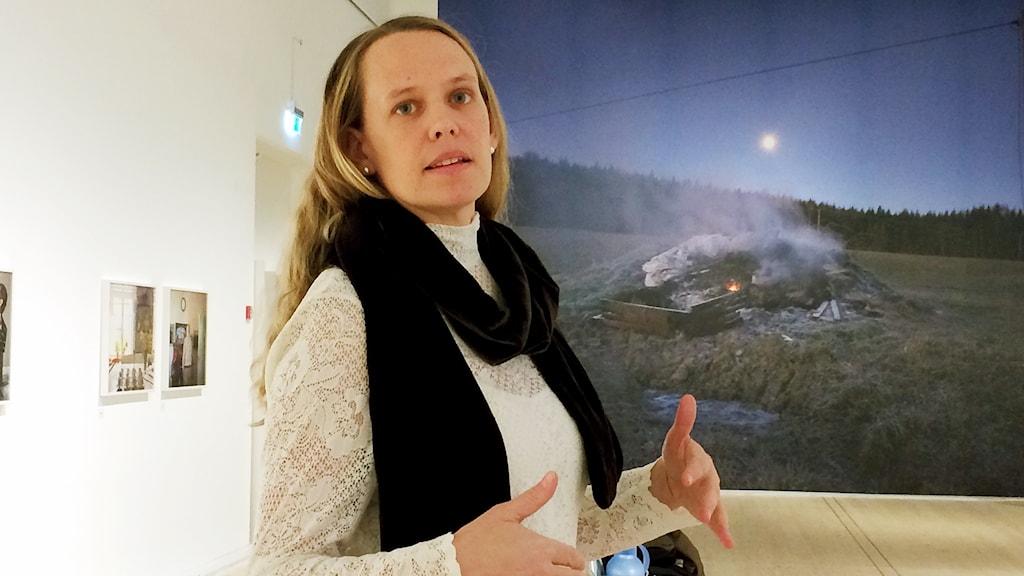 Linda Maria Thompson. Foto: Peter Öberg, Sveriges Radio.