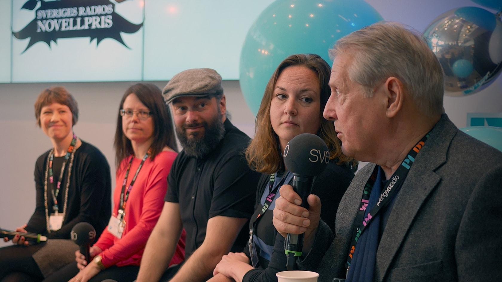 Samtal på scen med de nominerade till Sveriges Radios Novellpris 2018