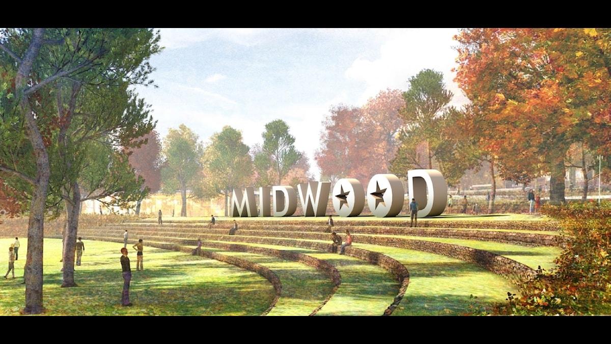 Bilden föreställer det planerade filmstudiobygget Midwood i Turkiet.
