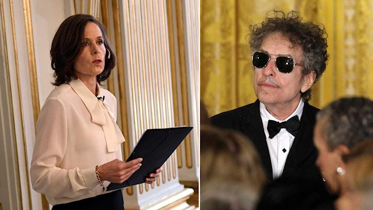 Sara Danius och Bob Dylan