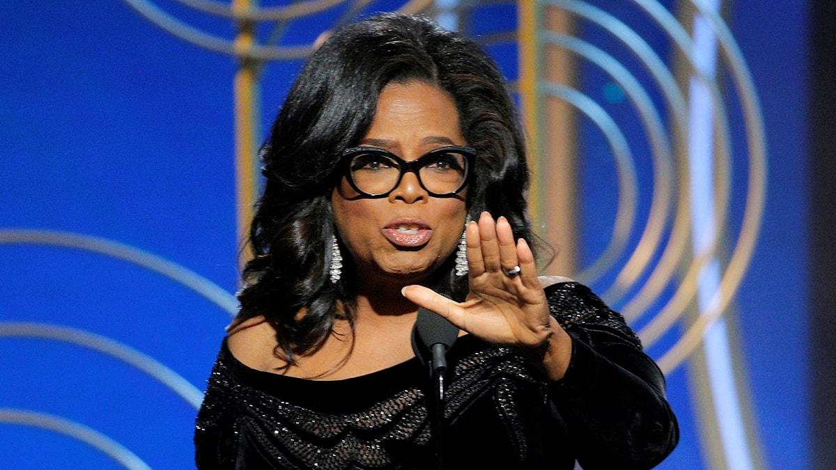Oprah Winfrey på Golden Globegalan.