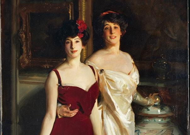 """""""Ena och Betty, Mr och Mrs Asher Wertheimers döttrar"""", 1901 (beskuren)"""