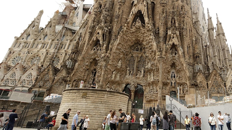 La Sagrada familia i Barcelona.