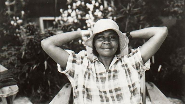Amerikansk-karibiska författaren Jamaica Kincaid.