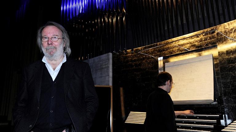 Benny Andersson närvarade vid invigningen av orgeln i Acusticum år 2012.