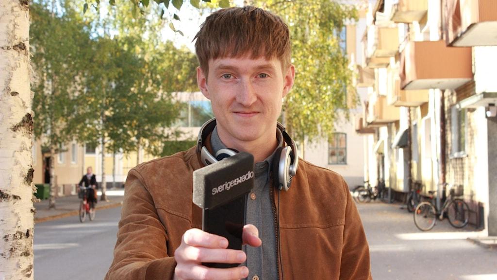 Kulturnytts reporter Joakim Silverdal.