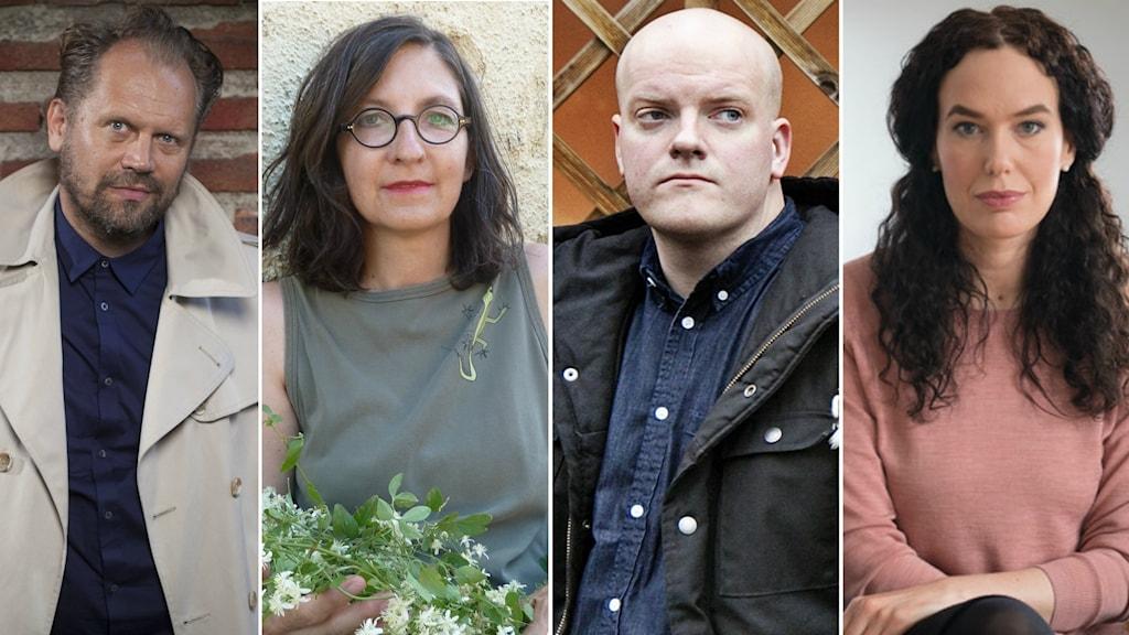 Årets nominerade författare: Stefan Lindberg, Caterina Pascual Söderbaum, Henrik Bromander och Therese Bohman.