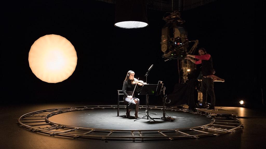 Från inspelningen av Susan Philipsz verk A Single Voice.