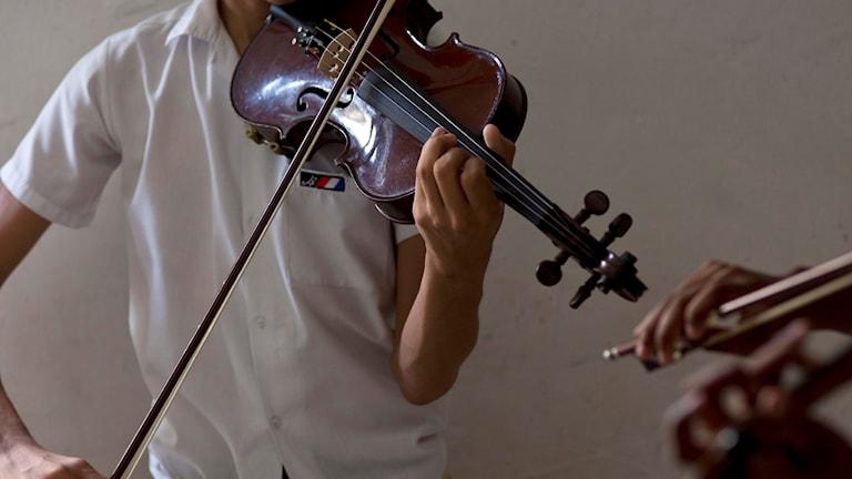Violinist i skolan
