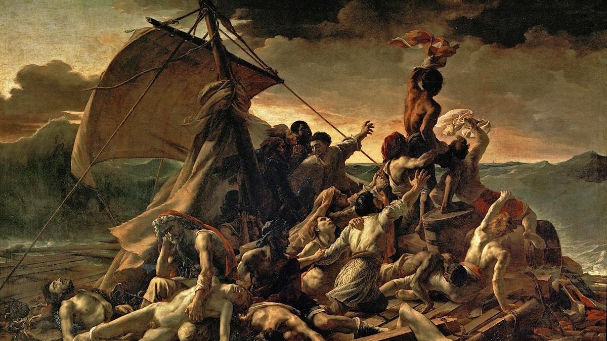 """Medusas flotte av Théodore Géricault pryder omslaget till Katarina Frostensons """"F - en färd"""""""