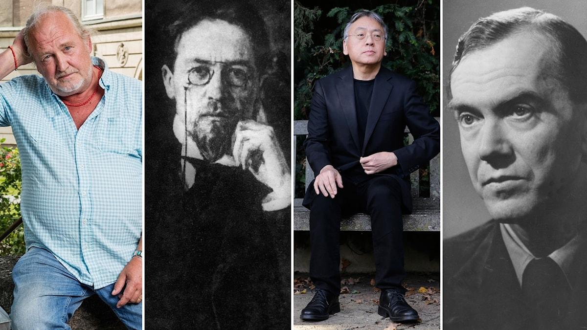 Vad har Plura Jonsson, Anton Tjechov, Kasuo Ishiguro och Graham greene gemensamt? Foto: SR / SVT Bild / TT / SVT Bild