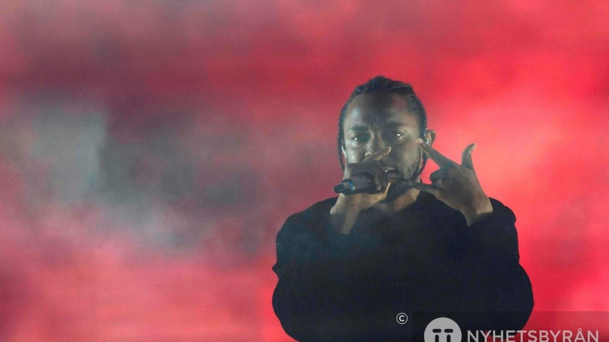 Arkivbild av Kendrick Lamar, eftersom pressfotografering inte var tillåtet på konserten i Globen.