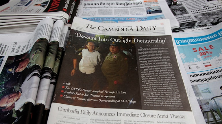 Cambodja Daily tvingats stänga ner