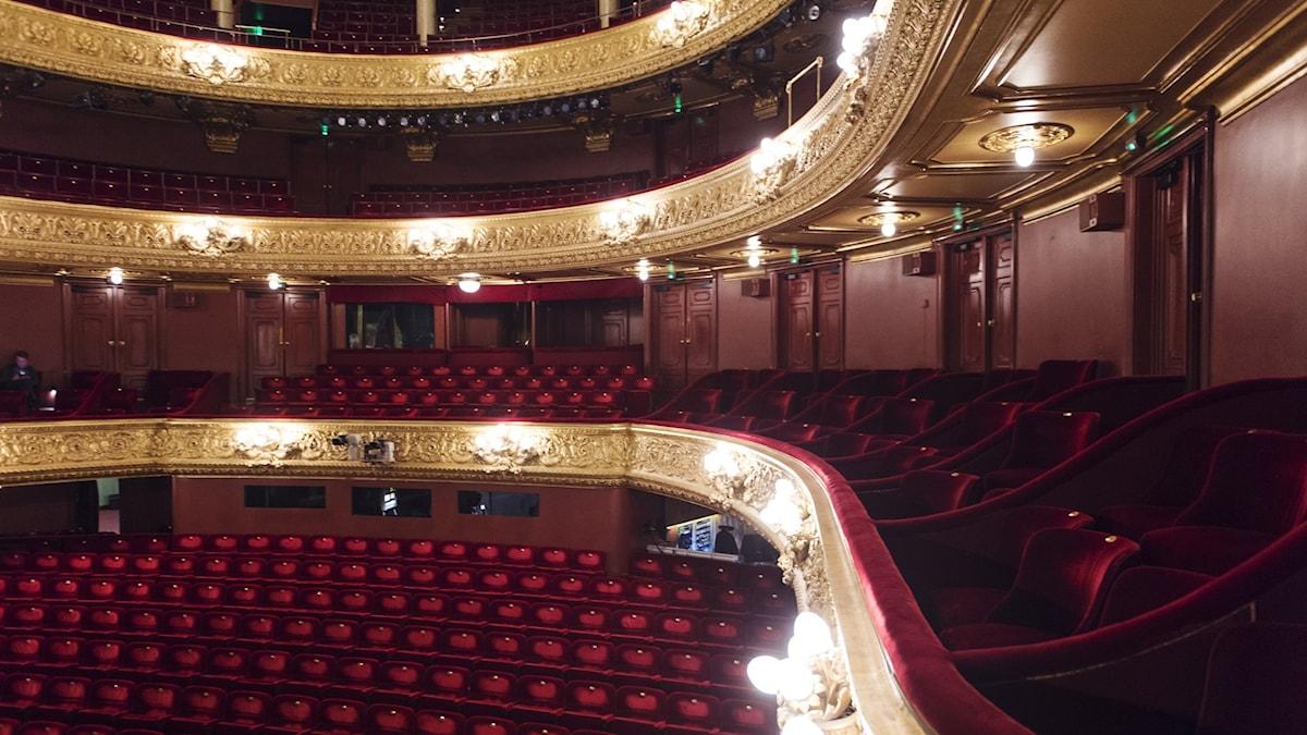 Tomma rader på Kungliga Operan i Stockholm.
