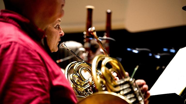 Musiker i Norrlandsoperans symfoniorkester. Foto: Tor Sörstam, Sveriges Radio.