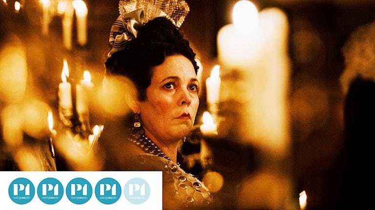 Prisbelönta Olivia Colman spelar Drottning Anne.