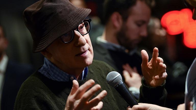 Filmregissören Woody Allen.