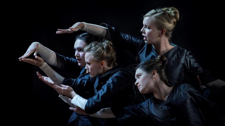 På bilden: Stina Åkerberg, Ingrid Berg, Karin Blom, Laura Orostica