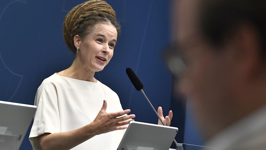 Kultur- och demokratiminister Amanda Lind.