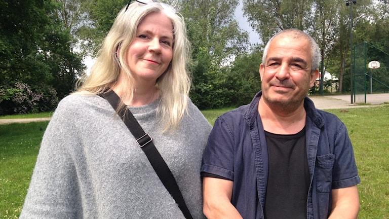 Ann-Marie Erixson är projektledare för Drömmarnas Hus och Jafer Taoun, är kulturhusets konstpedagog.