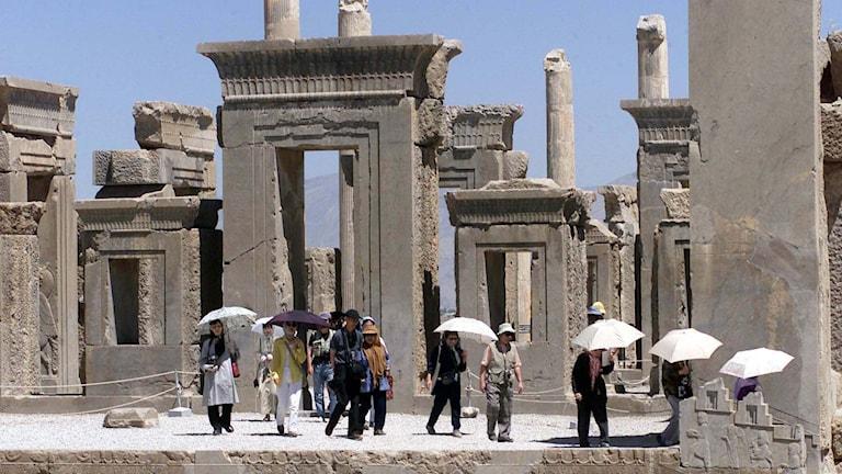 Persepolis i södra Iran finns på UNESCO:s världsarvslista. Foto: Vahid Salemi/AP