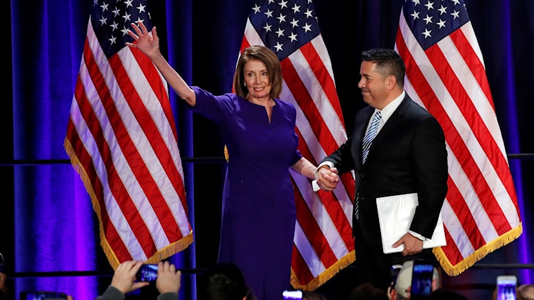 Nancy Pelosi, ledare för Demokraterna i USA:s representanthus.