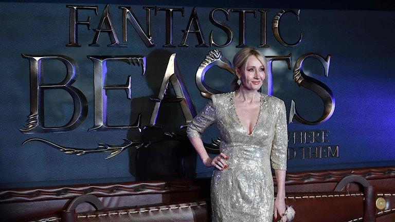 """JK Rowling vid biopremiären av """"Fantastiska vidunder och var man hittar dem""""."""