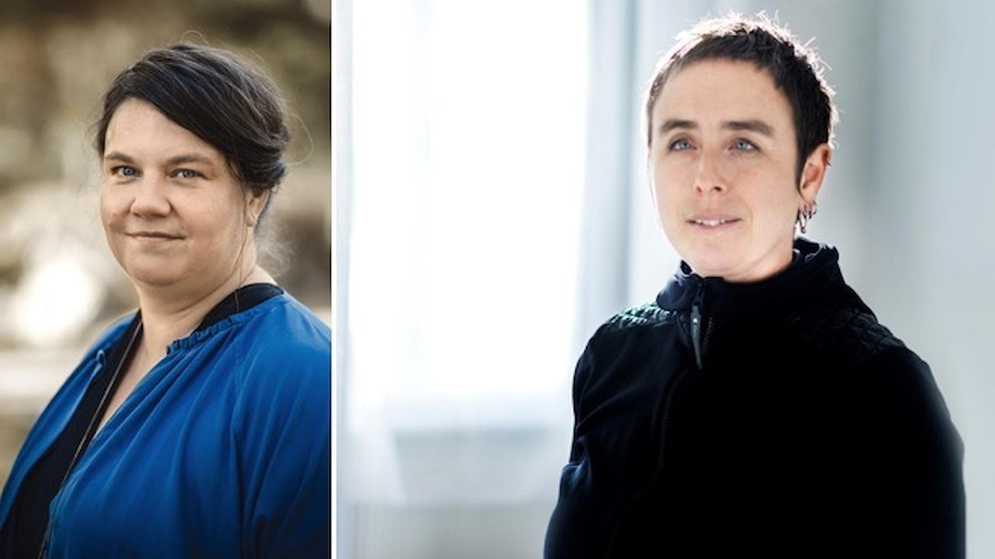 Porträtt av  Kristina Taylor, ordförande för Sveriges psykologförbund, och Siri Ambjörnsson, producent för Radiopsykologen.