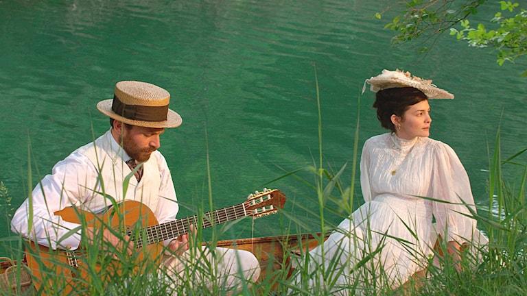 Bioduken har blivit en målarduk i filmen Kärleken och evigheten.