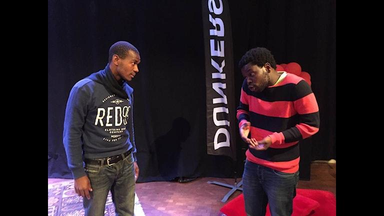 """Repetion av föreställningen """"Duda"""" av gruppen  Amtij från Moçambique."""