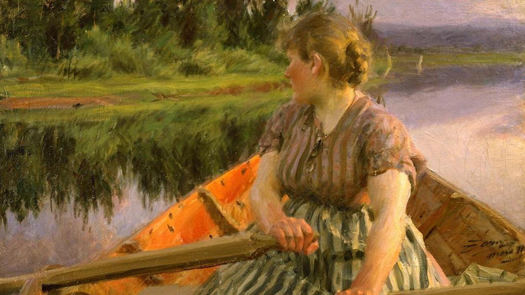 Anders Zorn, Midnatt, 1891. Olja på duk. Zornmuseet.