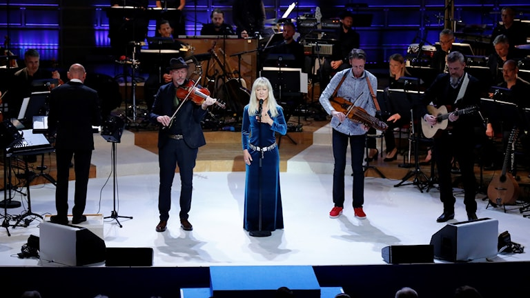 Kungliga filharmoniska orkestern och Väsen uppträder under Polarpriset 2016 prisceremoni på Konserthuset i Stockholm