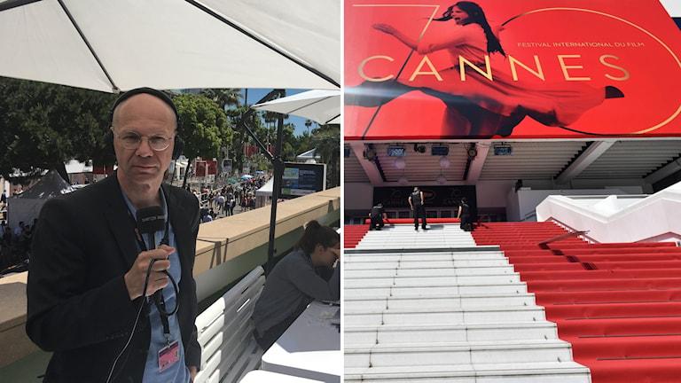 Röda mattan rullas ut inför invigningen av den 70:e filmfestivalen i Cannes. Björn Jansson är på plats.