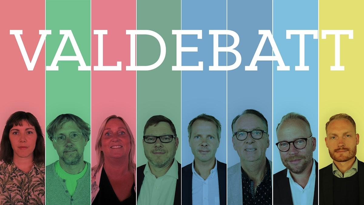 Riksdagspartiernas kulturpolitiska talespersoner.