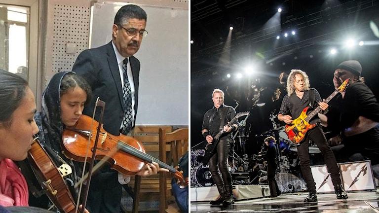 Afghanistans nationella musikinstitut och dess grundare Ahmad Sarmast prisas tillsammans med rockgruppen Metallica.