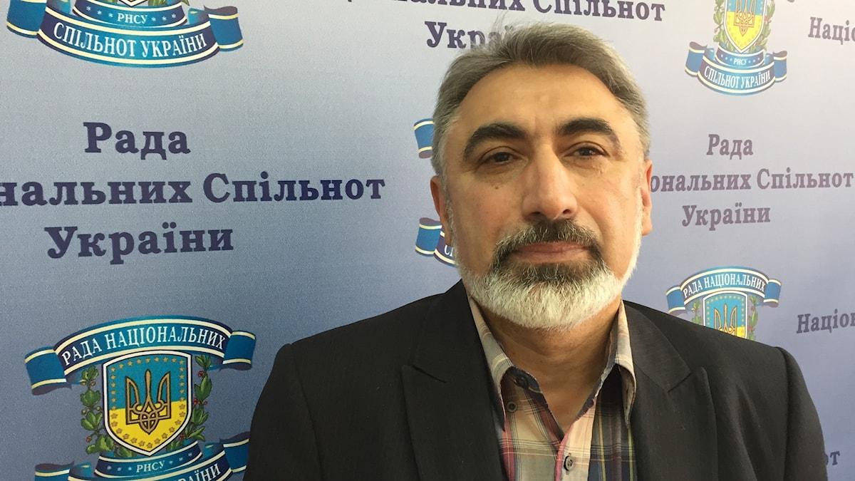 Petro Grygoritjenko, ordförande i Kongressen för romer i Ukraina. Foto: Fredrik Wadström