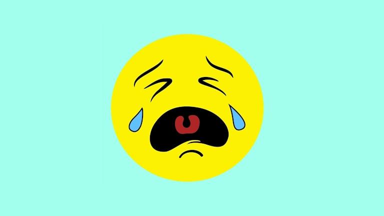 En gråtemoji.