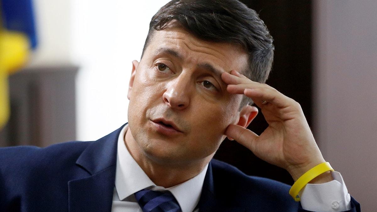 Presidentkandidat Volodymyr Zelenskyj. Foto: Efrem Lukatsky/TT